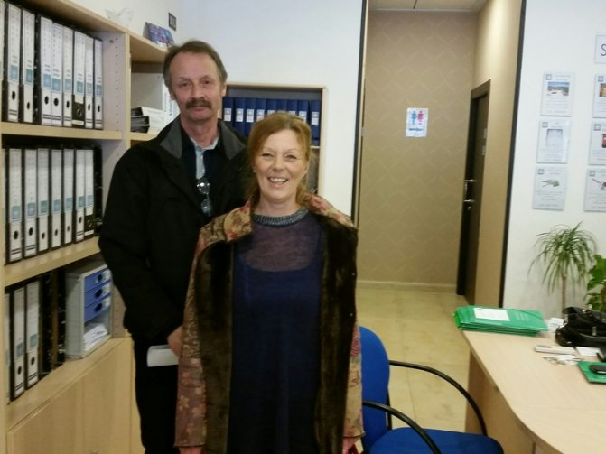 Yvonne Wengstroen and Leif Kujala